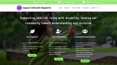 A re-worked website for an NDIS provider
